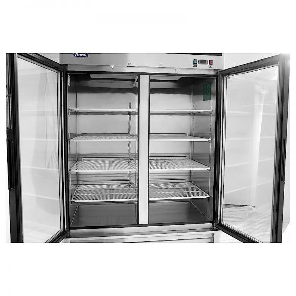 Refrigerador de Acero Inoxidable puertas de cristal MCF8707GR