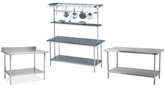 Muebles de acero Inoxidable de acero Inoxidable como Mesas de trabajo