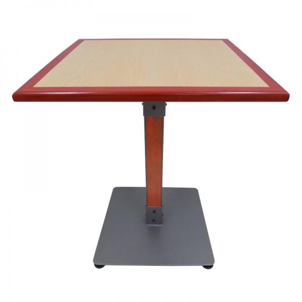 Mesa con canto de madera para restaurante MECCM-TB65-80