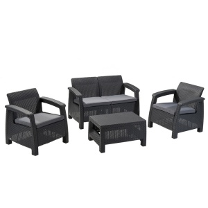 Set Lounge Triple para Exteriores Cafu
