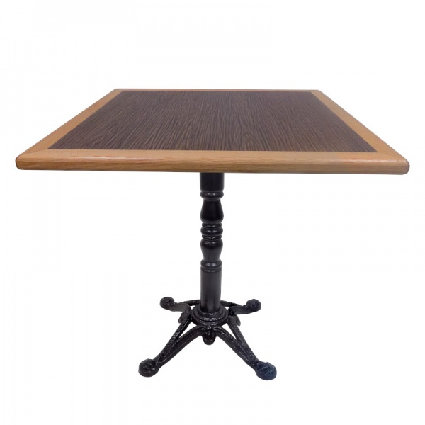 mesa para restaurante con base de hierro garigoleada MECCMEN-TB55