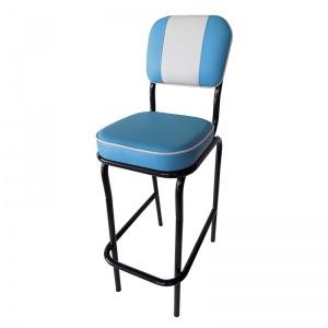 Silla Alta para Barra modelo Retro Azul