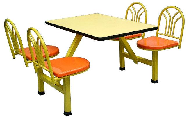 Muebles para Fastofood ambientado