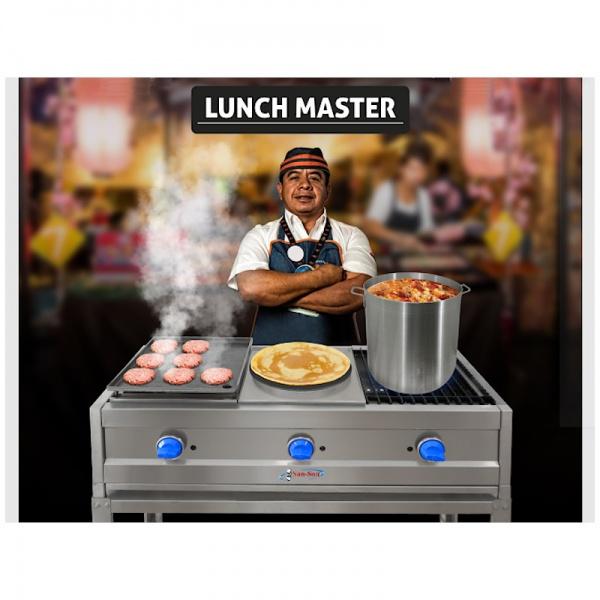 Parrilla Compacta 2 quemadores Lunch Master