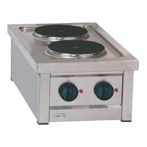 Parrilla Eléctrica de 2-Quemadores ERE-400T Asber