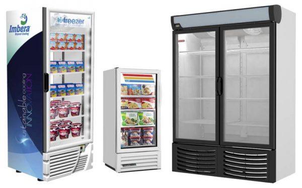 Congeladores Verticales con Puertas de Cristal