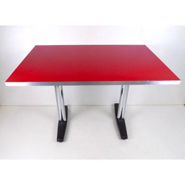 Mesa para Restaurante Chrome-1208 roja