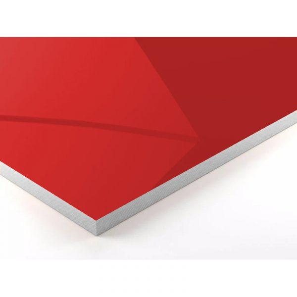Mesa para restaurante chrome detalle roja