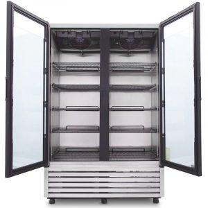 Refrigerador A-Inox Puertas de Cristal VRD43INX-R134